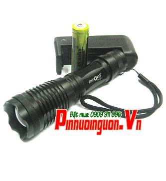 Đèn pin siêu sáng Huoyi HY-E6 bóng CREE LED XML T6 thấu kính lồi chính hãng || TẠM HẾT HÀNG