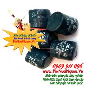 Pin sạc 3,6V-280mAh NiMh-NiCd đồng tiền, Pin sạc công nghiệp đồng xu NiMh-NiCd 3,6V-280mAh chính hãng DLC| có sẳn hàng
