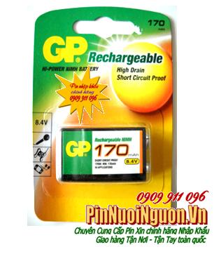 Pin sạc GP 9V170mAh Rechargeable Battery High Drain Circuit Proof chính hãng | tạm hết sử dụng GP 9V200mAh thay thế nhé