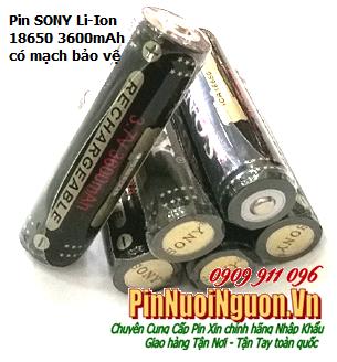 Pin sạc 3,7v Sony ICR18650-3600mAh Lithium Li-Ion sạc - có mạc bảo vệ Made in China - chỉ sử dụng cho Đèn pin | TẠM HẾT HÀNG