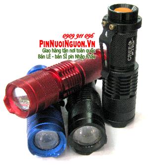 Đèn pin siêu sáng Police NK-628A thấu kính lồi bóng CREE LED - Vỏ màu đỏ | TẠM HẾT HÀNG