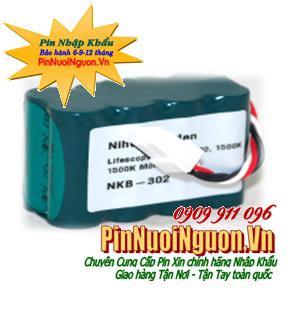 Pin màn hình theo dõi bệnh nhân, Pin máy đo điện tim Nihon Koden Nikon NKB-302 9.6V 1500mAh chính hãng | Bảo hành 6 tháng - Có sẳn hàng
