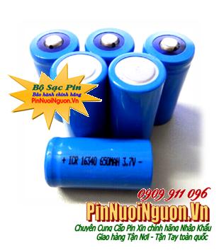 Pin sạc 3.7v 16340, CR123A - 700mAh Made in China ( chỉ sử dụng cho đèn pin) | Có sẳn hàng