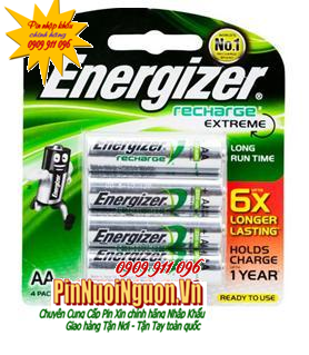 Pin sạc AA Energizer NH15ERP4 Extreme 6X Longer Lasting - AA2300mAh-1.2V Made in Japan| TẠM HẾT hàng-Chỉ còn vỉ 2 viên