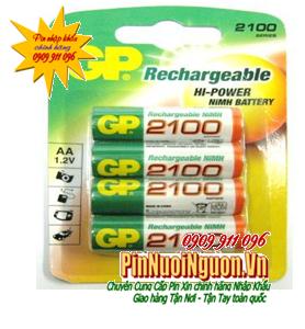 Pin sạc AA GP 210AAHC-4U - 2100mAh - 1.2V chính hãng GP | tạm hết hàng - sử dụng qua GP Recyko cho tốt hơn