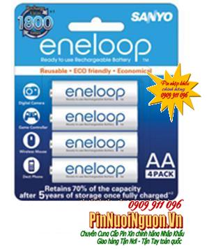 Pin sạc AASanyo Eneloop HR3UTGB-4H/AA |Type 1900mAh -1.2V, sạc 1800 lần| mẫu cũ hết sản xuất lâu rồi