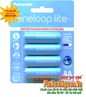 Pin sạc AA Panasonic EneloopLite BK-3LCCE/4BT - AA1000mAh-1.2V chính hãng sạc được 3000 lần | tạm hết hàng - sử dụng vỉ 2v thay thế