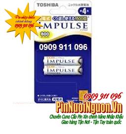 Pin sạc AAA Toshiba Impulse TNH-4A/2P | 800mAh - 1.2V  chính hãng - vỉ pin ghi chữ nhật | hàng có sẳn