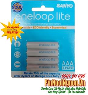 Pin sạc AAA Sanyo Eneloop Lite 4HR-4UQ-SECP-C Min 550mAh/Max600mAh-1.2V| mẫu cũ ngưng SX-hết hàng