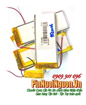 Pin sạc 3,7V Li-Polymer 422870 (4.2mmx28mmx70mm) - 950mAh, Pin sạc công nghiệp Li-Po 422870 | TẠM HẾT HÀNG