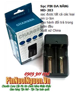 Máy sạc pin Li-Ion đa năng MD-203, sạc được tất cả các loại pin Lithium Li-Ion 3.7V | TẠM HẾT HÀNG
