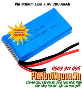 Pin sạc Lithium Lipo 7.4v2000mAh, Pin sạc Lipolymer 7.4v2000mAh chính hãng| có sẳn hàng
