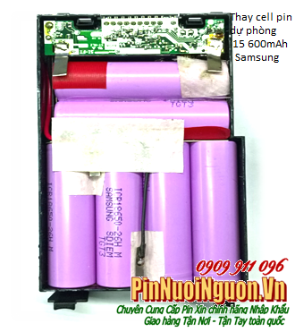 Thay cell pin sạc dự phòng  Lithium Li-Ion 15 600mAh chính hãng Samsung | có sẳn hàng