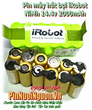Pin máy hút bụi iRobot 14.4v 2000mAh, Pin sạc 14.4v 2000mAh máy hút bụi iRobot chính hãng,Thay cells pin | Bảo hành 6 tháng