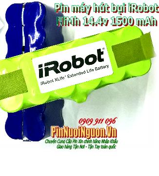 Pin máy hút bụi iRobot 14.4v 1500mAh, Pin sạc 14.4v 1500mAh máy hút bụi iRobot chính hãng, Thay cells pin| Bảo hành 6 tháng