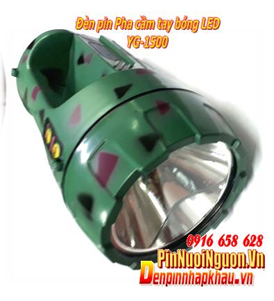 Đèn pin Pha cầm tay bóng LED siêu sáng YG-1500A | TẠM HẾT HÀNG