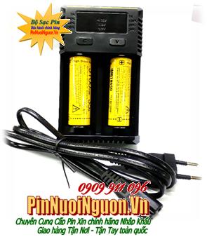 Bộ sạc pin 18650 Nitecore New i2 kèm sẳn 2 pin sạc NItecore High Drain IMR18650-3100mAh-3.7v| HÀNG CÓ SẲN