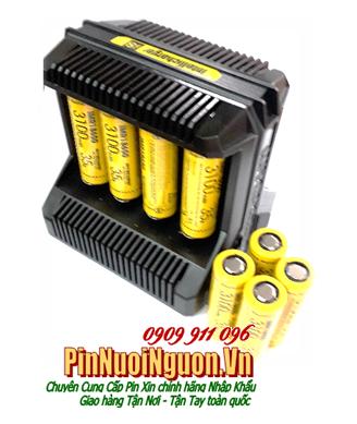 Bộ sạc pin 18650 Nitecore i8 kèm sẳn 8 pin sạc NItecore High Drain IMR18650-3100mAh-3.7v | HÀNG CÓ SẲN