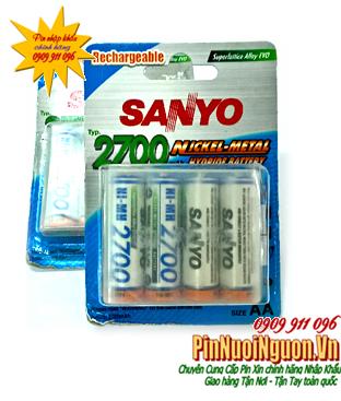 Pin sạc AA Sanyo HR-3U-4BP | 2700mAh-1.2V| chính hãng Made in Japan | hàng có sẳn