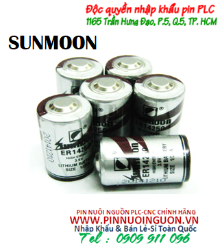 Pin nuôi nguồn PLC-CNC Sunmoon ER14250 lithium 3,6V size 1/2AA 1200mAh chính hãng-Made in China - Có sẳn hàng