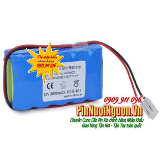 Pin Biocare ECG-300G ECG EKG Vital Sign Monitor Battery (12V-SC2000mAh); NiMh 12v 2000mAh Rechargeable Battery| CÒN HÀNG