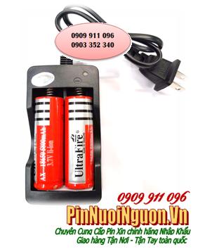 Bộ sạc pin SM-202A kèm sẳn 2 pin sạc Ultrafire AX18650-5800mAh-3.7v (Made in Thailand)| CÒN HÀNG| Bảo hành 01 THÁNG