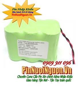 Pin sạc khối NIMH/NICD 7.2V-D5000mAh (Dx6cells )chính hãng, Bảo hành 03 tháng | hàng có sẳn
