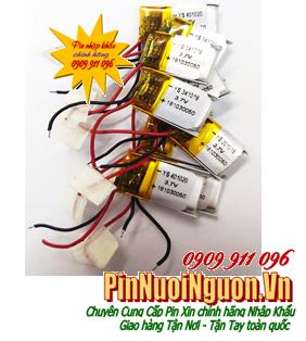 Pin sạc 3.7v Li-po 401020 (4.0mmx1.0mmx20mm); Pin sạc Li-polymer 401020; Pin tai nghe Bluetooth 401020| HÀNG CÓ SẲN