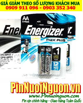 Energizer X91RP2T; Pin AA 1.5v Energizer X91RP2T Max Plus Made in Singapore | Vỉ 2viên