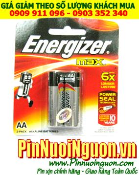 Pin Energizer E91 BP2; Pin AA 1.5v Alkaline Energizer E91-BP2-Made in Singapore| Vỉ 2 viên