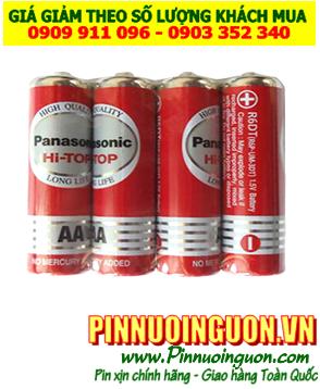 Pin Panasonic R6DT/4S; Pin AA 1.5v Panasonic R6DT/4S Hi-top Made in Thailand| vỈ 4viên
