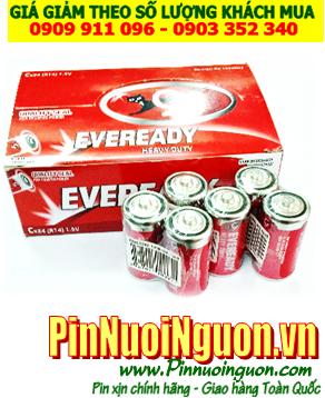 COMBO hộp 24 viên (12 vỉ) Pin trung C 1.5v Eveready 1035-BP2 Made in Singapore -Giá chỉ 195.000đ/ HỘP 24viên
