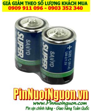 Pin Sanyo UM2, R14; Pin trung C 1.5v Sanyo UM2, R14 Liên doanh China  Vỉ 2viên| HẾT HÀNG