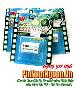 Pin C123A, CR17345; Pin HW CR123A PhotoLithium 3v [ĐVT: 1viên]
