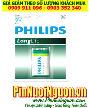 Pin Philiips 6F22L1B/97; Pin 9v vuông Philiips 6F22L1B/97 _ Vỉ 1viên | HẾT HÀNG