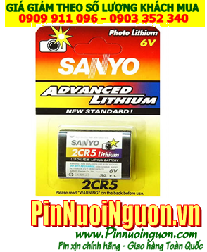 Pin Sanyo 2CR5; Pin 2CR5; Pin 6v Lithium Sanyo 2CR5 _ Vỉ 1viên | HẾT HÀNG