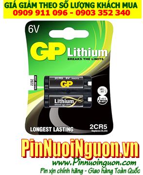 Pin GP 2CR5; Pin 2CR5; Pin 6v PhotoLithium GP 2CR5 _ Vỉ 1viên| HẾT HÀNG
