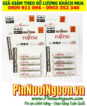 Fujitsu HR-4UTC(4B); Pin sạc AAA 1.2v Fujitsu HR-4UTC(4B) AAA750mAh _Made in Japan _Vỉ 4viên