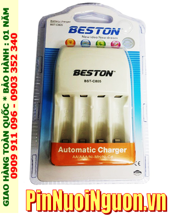 Beston BST-C805; Máy sạc pin AA-AAA Beston BST-C805 _Sạc được 1,2,3,4 pin AA-AAA _Made in Hongkong