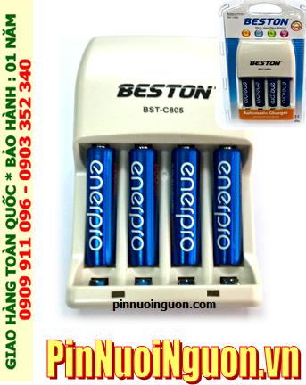 Bộ sạc pin AAA Beston BST-C805 kèm sẳn 4 pin sạc EnerPro AAA800mAh 1.2v