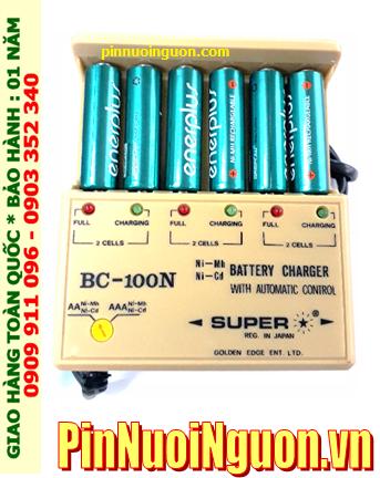 Bộ sạc 6 pin Super BC-100N kèm sẳn 6 pin sạc EnerPlus AA2700mAh 1.2v