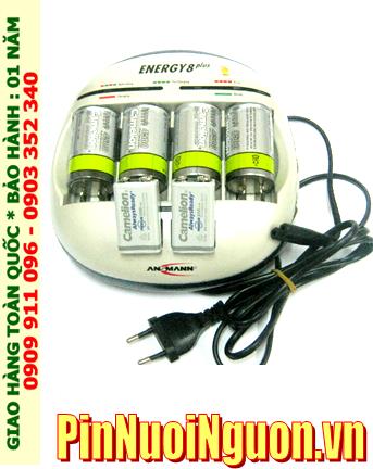Bộ sạc pin Ansman Energy 8Plus kèm 4 pin sạc Camelion D4500mAh và 02 pin sạc Camelion 9v 200mAh| HẾT HÀNG
