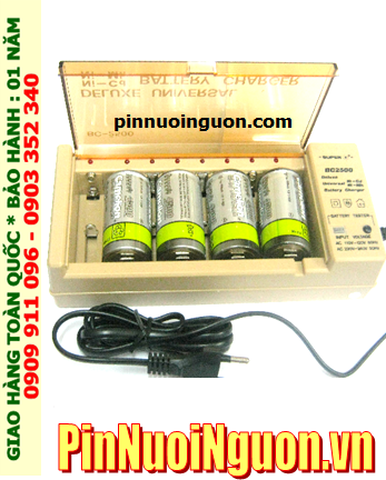 Bộ sạc pin D Super BC2500 kèm sẳn 4 pin sạc Camelion D4500mAh 1.2v