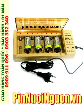 Bộ sạc pin C Super BC2500 kèm sẳn 4 pin sạc trung C Camelion C2500mAh 1.2v