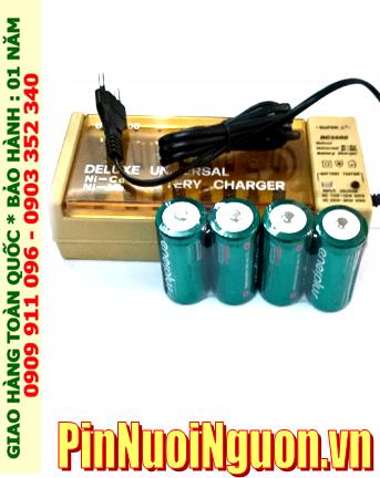Bộ sạc pin C Super BC2500 kèm sẳn 4 pin sạc trung C EnerPlus C5000mAh 1.2v