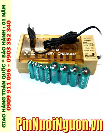 Bộ sạc Super BC2500 kèm 8 pin (gồm 4 pin sạc EnerPlus C5000mAh và 4 pin AA2700mAh) 1.2v |HẾT HÀNG