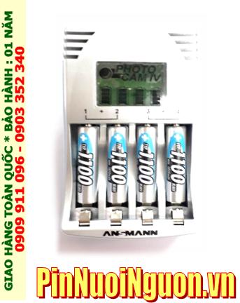 Bộ sạc pin AAA Ansman Photocam IV kèm sẳn 4 pin sạc Ansman AAA1100mAh 1.2v _có màn hình LCD