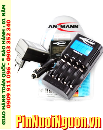 Powerline 4Pro; Máy sạc pin Ansman Powerline 4Pro _Có màn hình LCD_Đo Dung lượng Pin _Sạc 1,2,3,4 pin AA-AAA