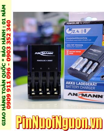 Máy sạc pin Máy ảnh AA-AAA Powerline 4Smart _Sạc nhanh _Sạc được 1,2,3,4 pin AA và AAA