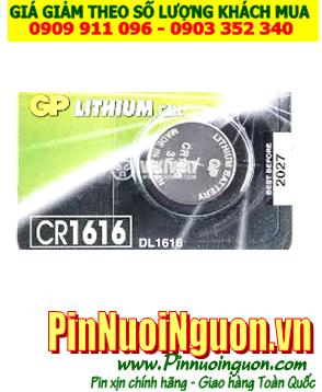 Pin CR1616 _Pin GP CR1616; Pin 3v lithium GP CR1616 chính hãng _Made in China _1viên |HẾT HÀNG